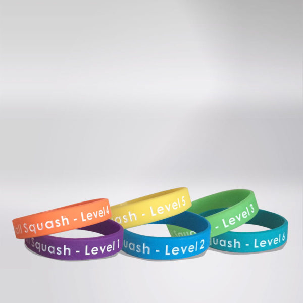 Off The Wall Squash - Junior Progress Awards - Wristbands - Coaching Resources