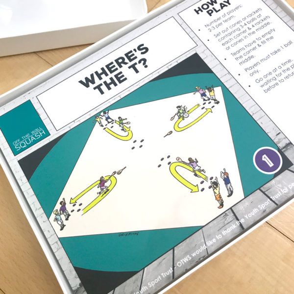 Off The Wall Squash - Junior Skills Games Cards - Junior Coaching Resources