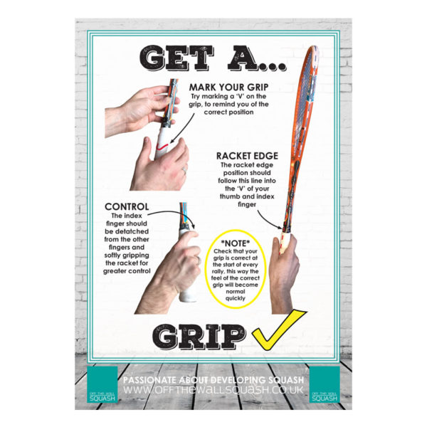 Off The Wall Squash - Grip Poster- Coaching Resources