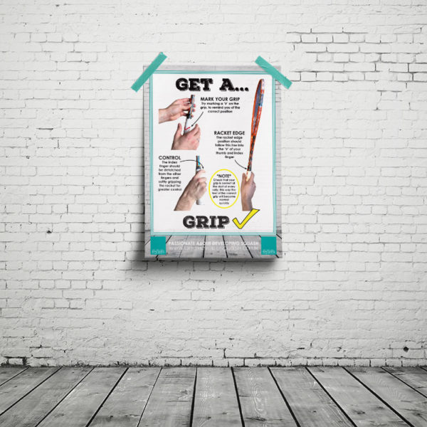 Off The Wall Squash - Grip Poster - Coaching Resources
